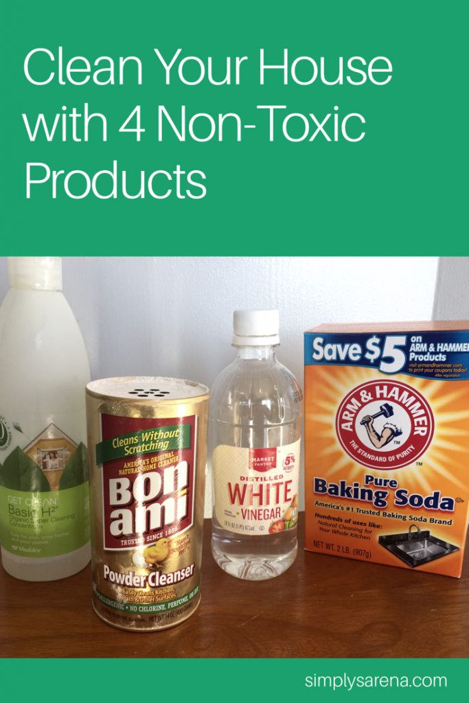 I love having a clean house,but not at my health's expense. This post is about how I use non-toxic cleaning products to clean my house! These non-toxic cleaning products are safe, affordable, and THEY WORK! You most likely have at least 2 of these products in your pantry.