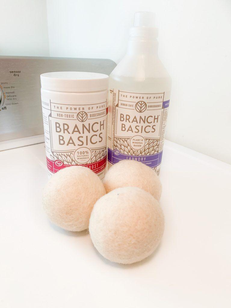 branch basics, toxin free laundry, non-toxic laundry, laundry alternatives, clean laundry, branch basics laundry, wool dryer balls