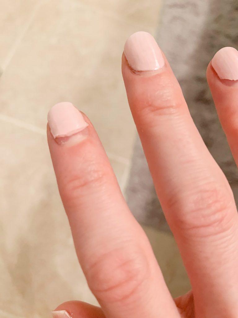 Photo of SOPHi nail polish peeling  off after using the SOPHi Nail Polish Stripper